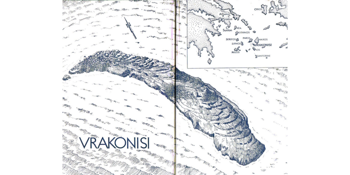 Endpapers for the novel, showing the island upon which Bond meets the eponymous Colonel