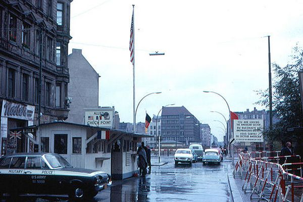 Checkpoint Charlie in the 1960s