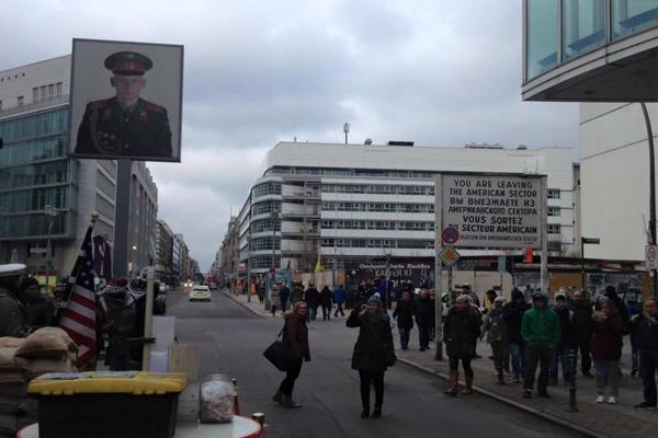 Checkpoint Charlie in 2016. Photo credit: Tom Cull