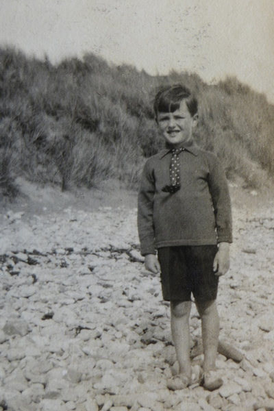 Ian Fleming at the beach as a small boy - Ian Fleming