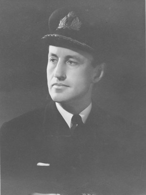 Ian Fleming in Naval Uniform from the photograph album of Maud Russell, c 1940