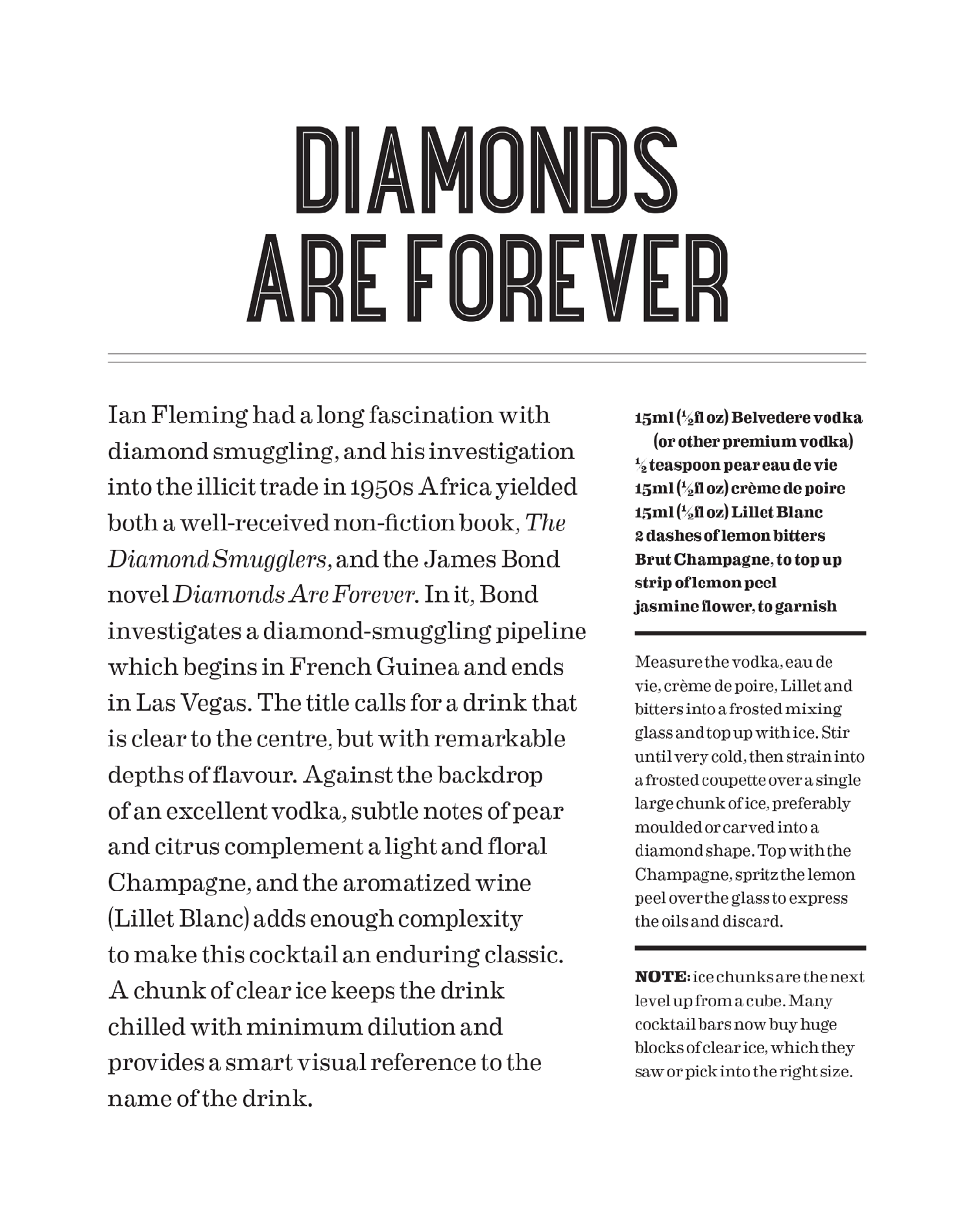 Shaken: How to mix the perfect    Diamonds Are Forever - Ian